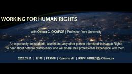 Networking event - Working for human rights