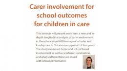 Carer involvement for school outcomes for children in care