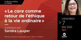 Affiche de la Conférence de Sandra Laugier