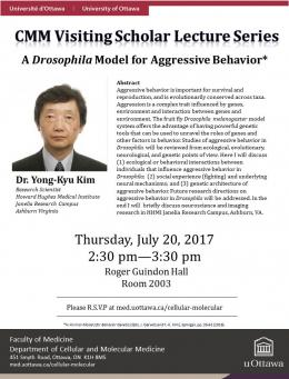 Lecture poster for Dr. Yong-Kyu Kim