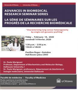Dr. Paola Marignani seminar poster