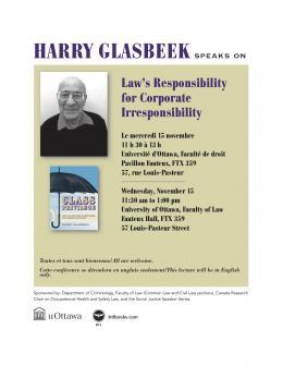 Las's Responsabilité for Corporate Irresponsability lecture poster