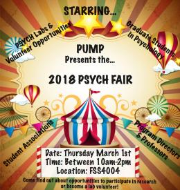 PUMP presents the 2018 Psych Fair