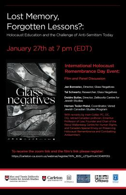 Poster January 27 event International Holocaust Remembrance Day