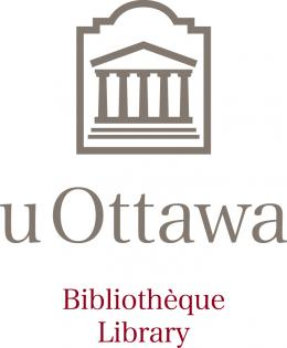 Library's logo (silhouette of Tabaret building)