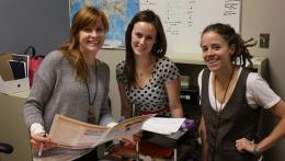 2 Students with their Community Partner during their CSL placement