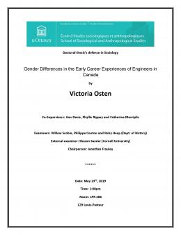 Poster of the oral defence