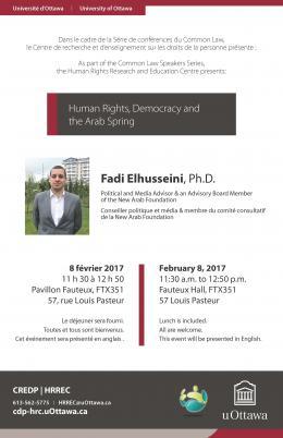CML Speaker Series with Fadi Elhusseini   Série de conférence du CML avec Fadi Elhusseini