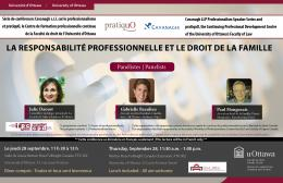 Image of Cavanagh LLP Professionalism Speaker Series and pratiquO event poster