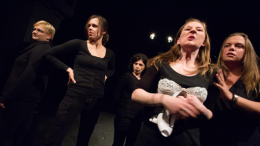 Photo - extract from the play HerStory of Bra & Knife