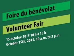 Affiche du Foire du bénévolat le 15 octobre 2015 10 heure a 15 heure