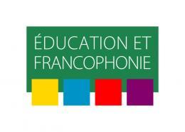 Logo en couleur, texte Éducation et francophonie