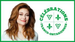 Picture of Kat Levac and Franco-Ontarian Celebrations Logo
