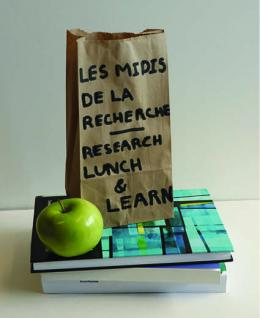 Lunch bag, books and green apple