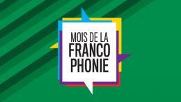 Mois de la francophonie logo on green background