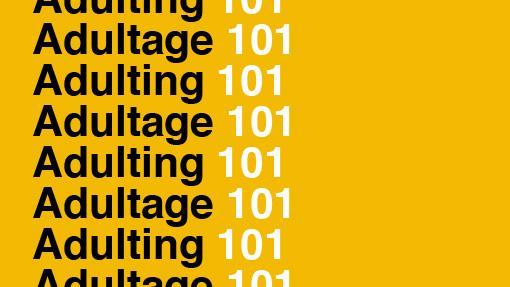 Adultage 101 sur arrière-plan jaune