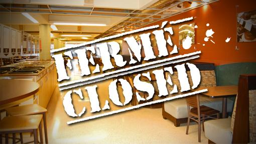 Foire alimentaire UCU écrit fermé | UCU food court written closed